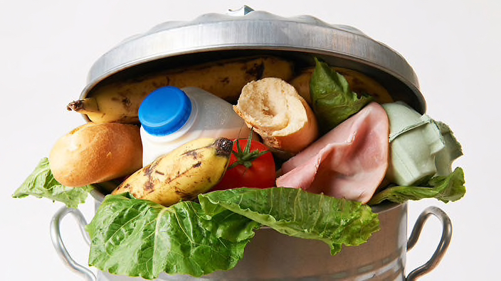 Food waste in bin
